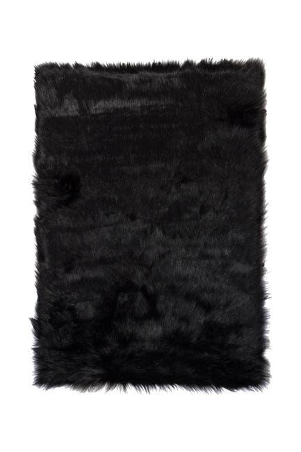 Image of LUXE Hudson Faux Fur Rug - 3ft x 5ft - Black