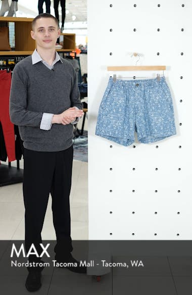 Snappers Tropical Print Shorts, sales video thumbnail