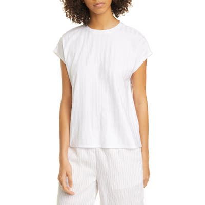 Eileen Fisher Ribbed Top, White