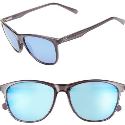 Maui Jim Sugar Cane 57Mm Polarizedplus2 Sunglasses - Transparent Grey/ Blue Hawaii