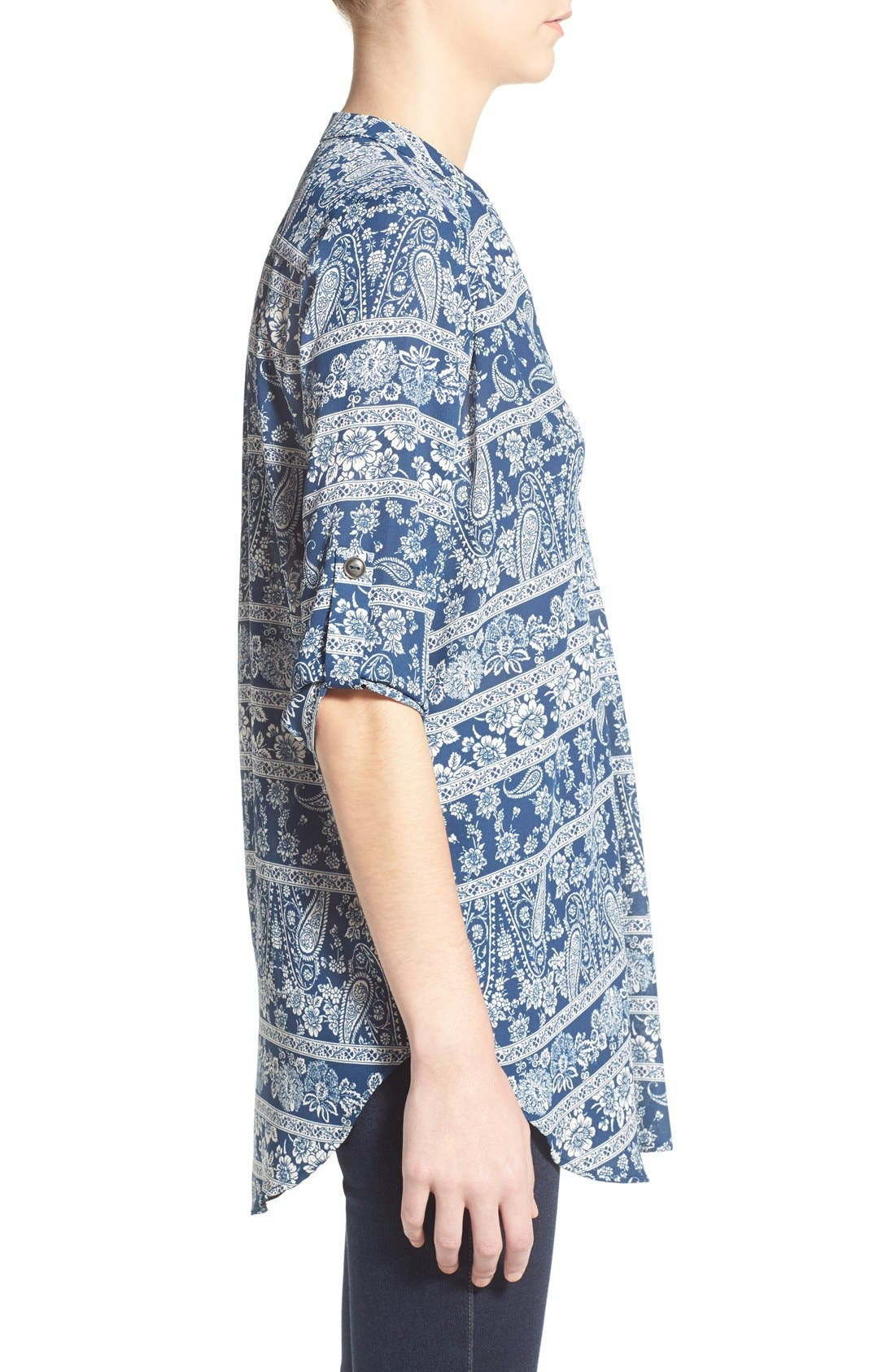 ,                             Perfect Roll Tab Sleeve Tunic,                             Alternate thumbnail 304, color,                             469