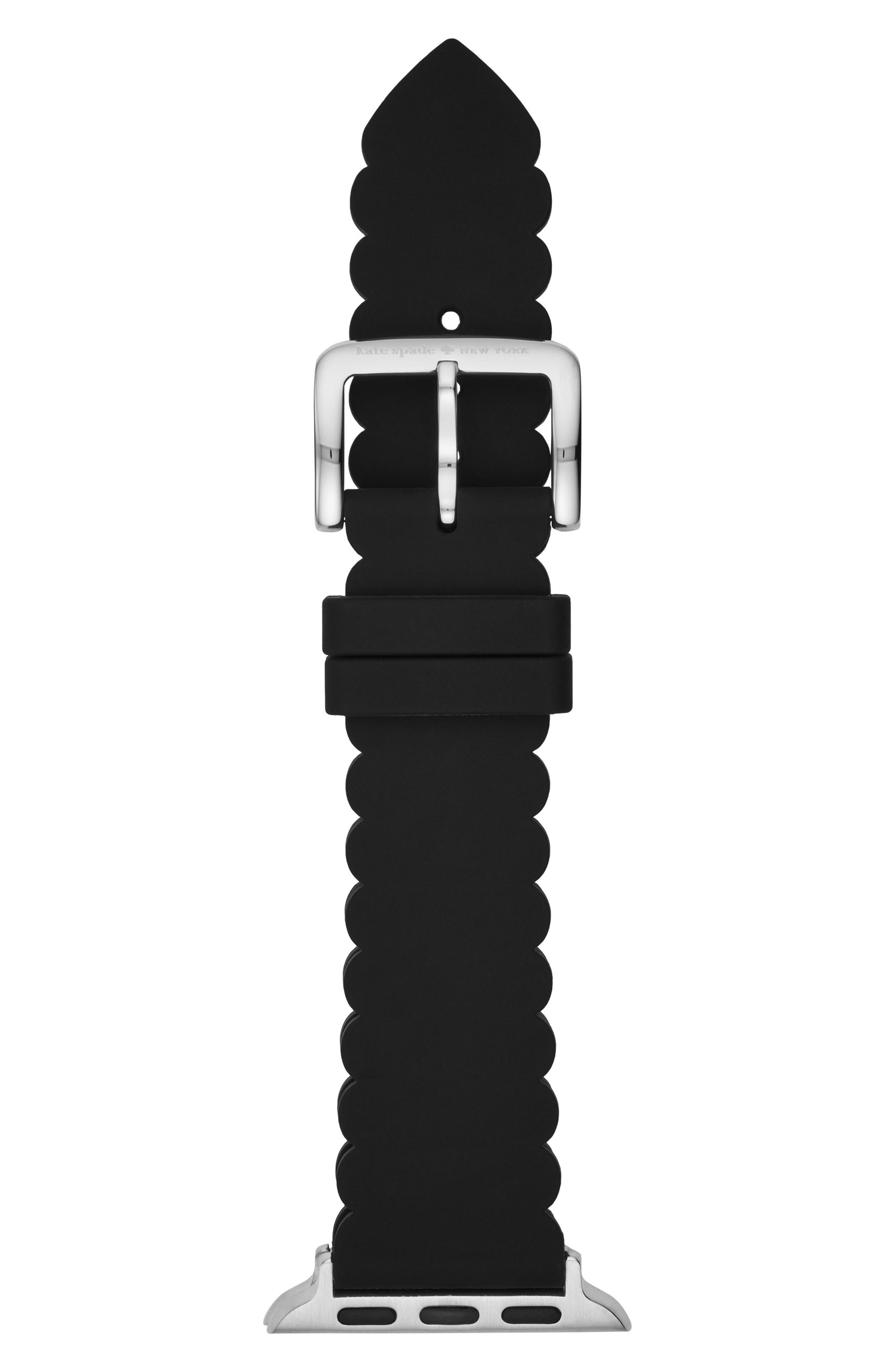 ,                             Apple Watch strap, 38mm,                             Alternate thumbnail 2, color,                             BLACK