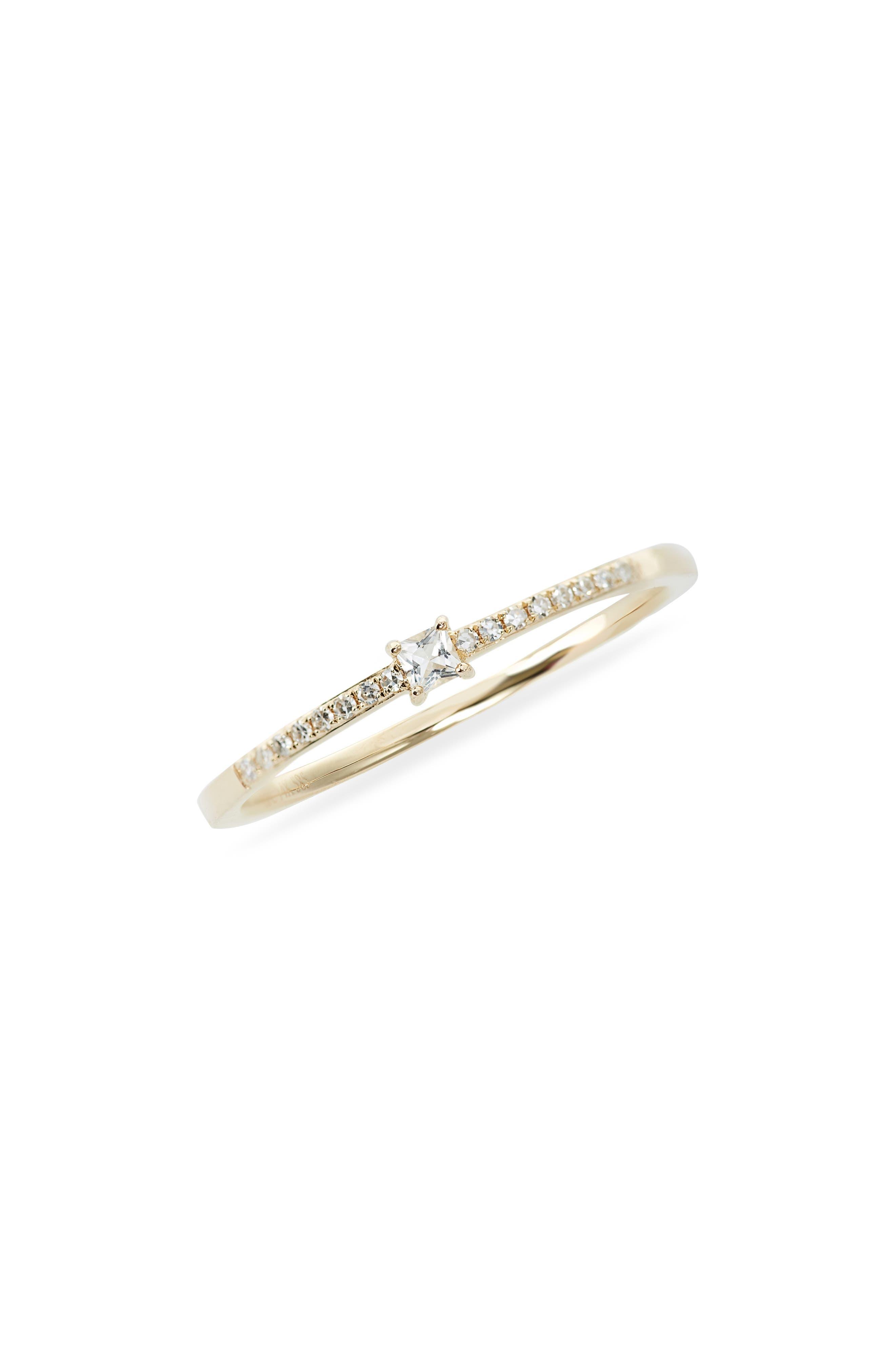 Princess Diamond Stack Ring