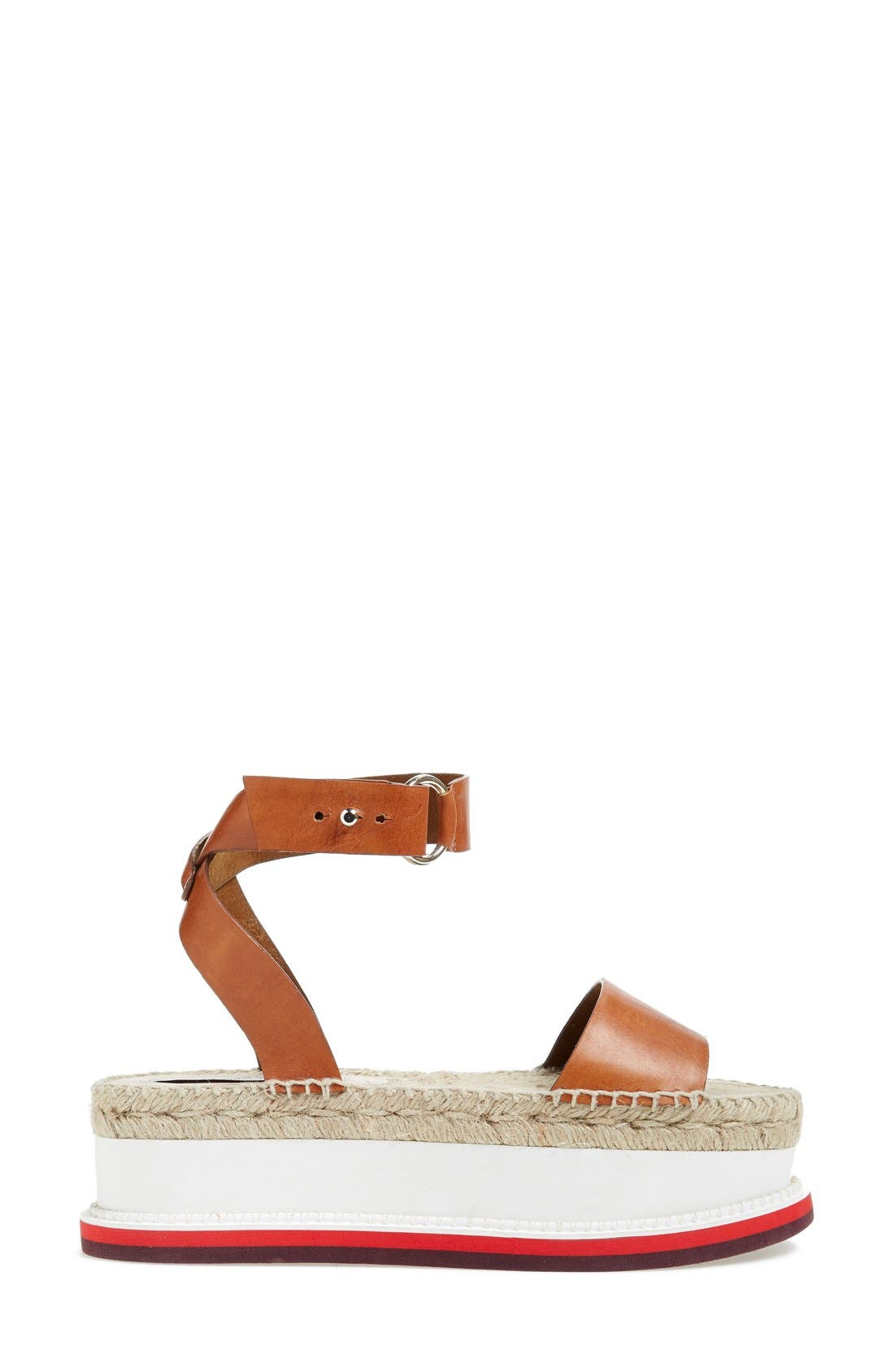 ,                             Platform Espadrille Sandal,                             Alternate thumbnail 3, color,                             200