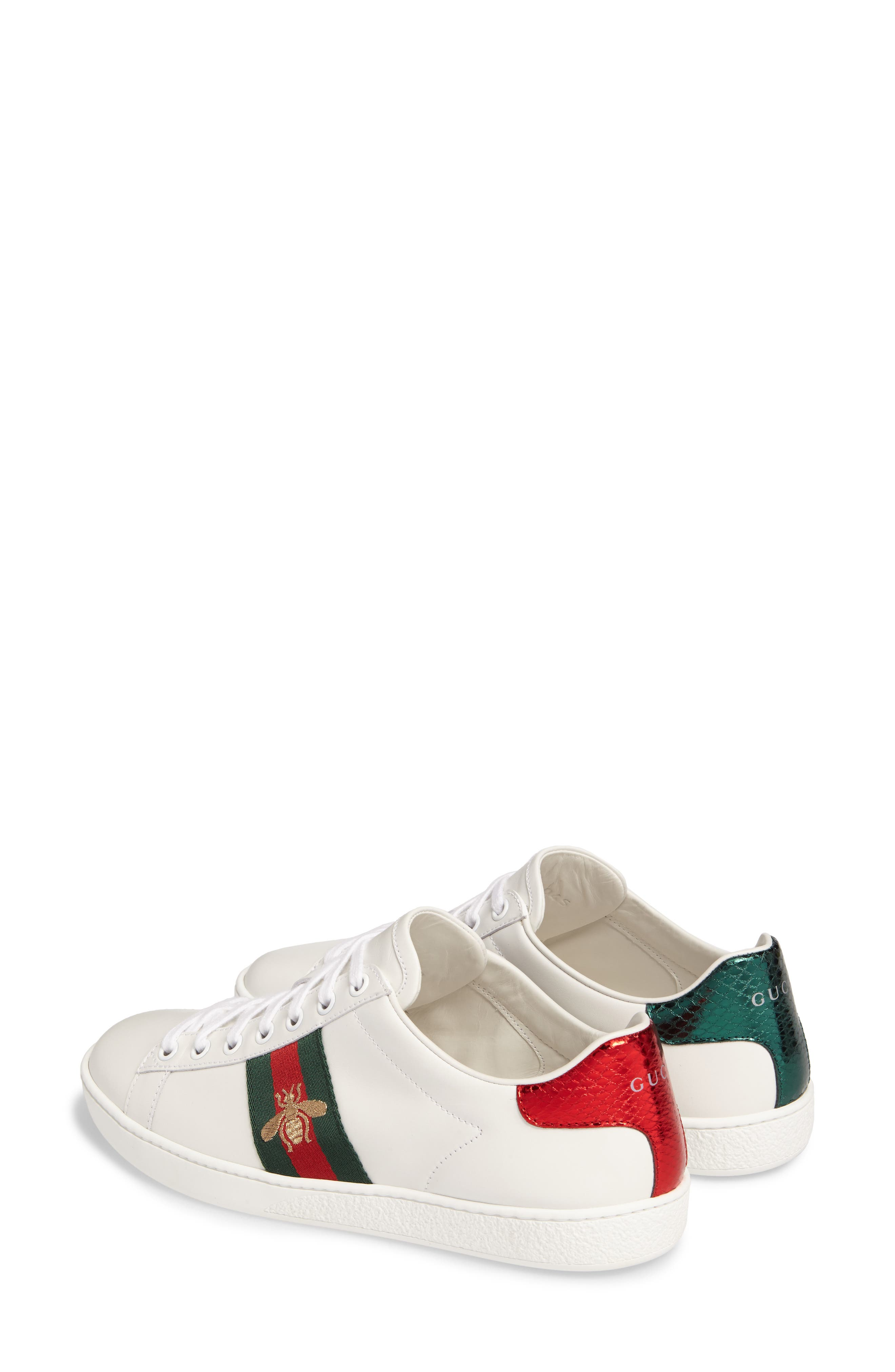 ,                             New Ace Sneaker,                             Alternate thumbnail 2, color,                             WHITE LEATHER