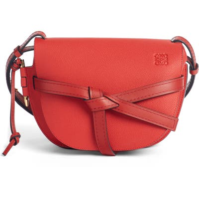 Loewe Gate Small Leather Crossbody Bag - Red