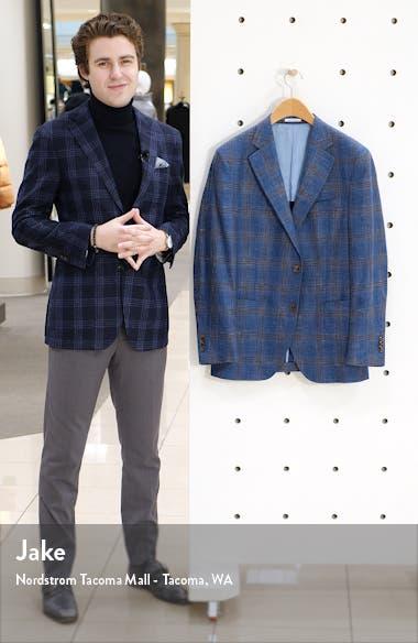 Classic Fit Plaid Wool Blend Sport Coat, sales video thumbnail