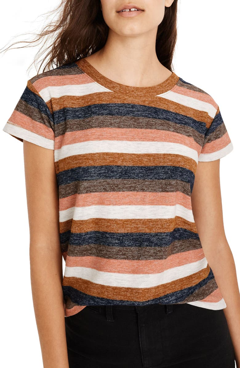 MADEWELL Textured Tee in Stripe, Main, color, 200