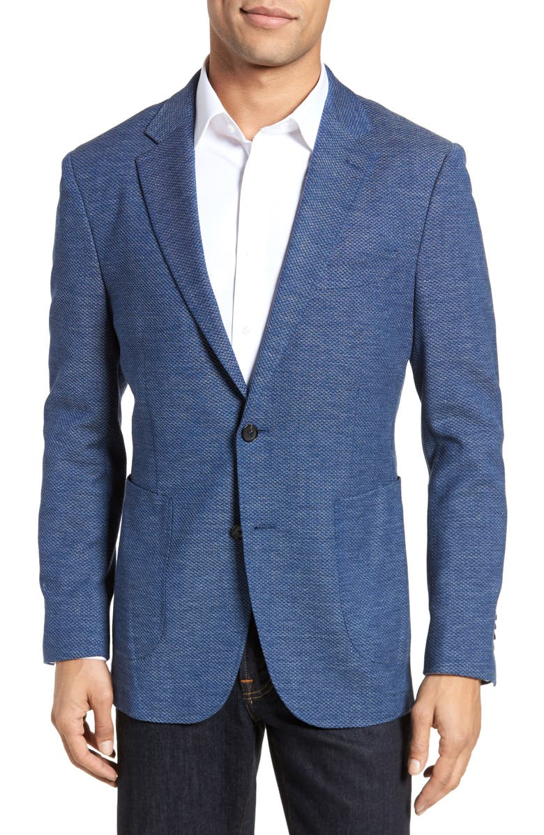 RODD & GUNN Fife Street Wool Blend Blazer, Main, color, MARINE