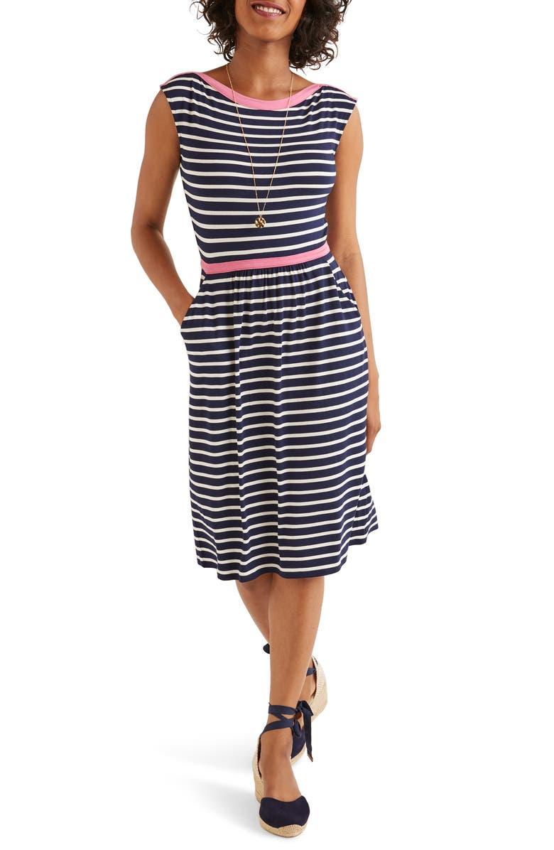 BODEN Eleanor Print Jersey Dress, Main, color, 414