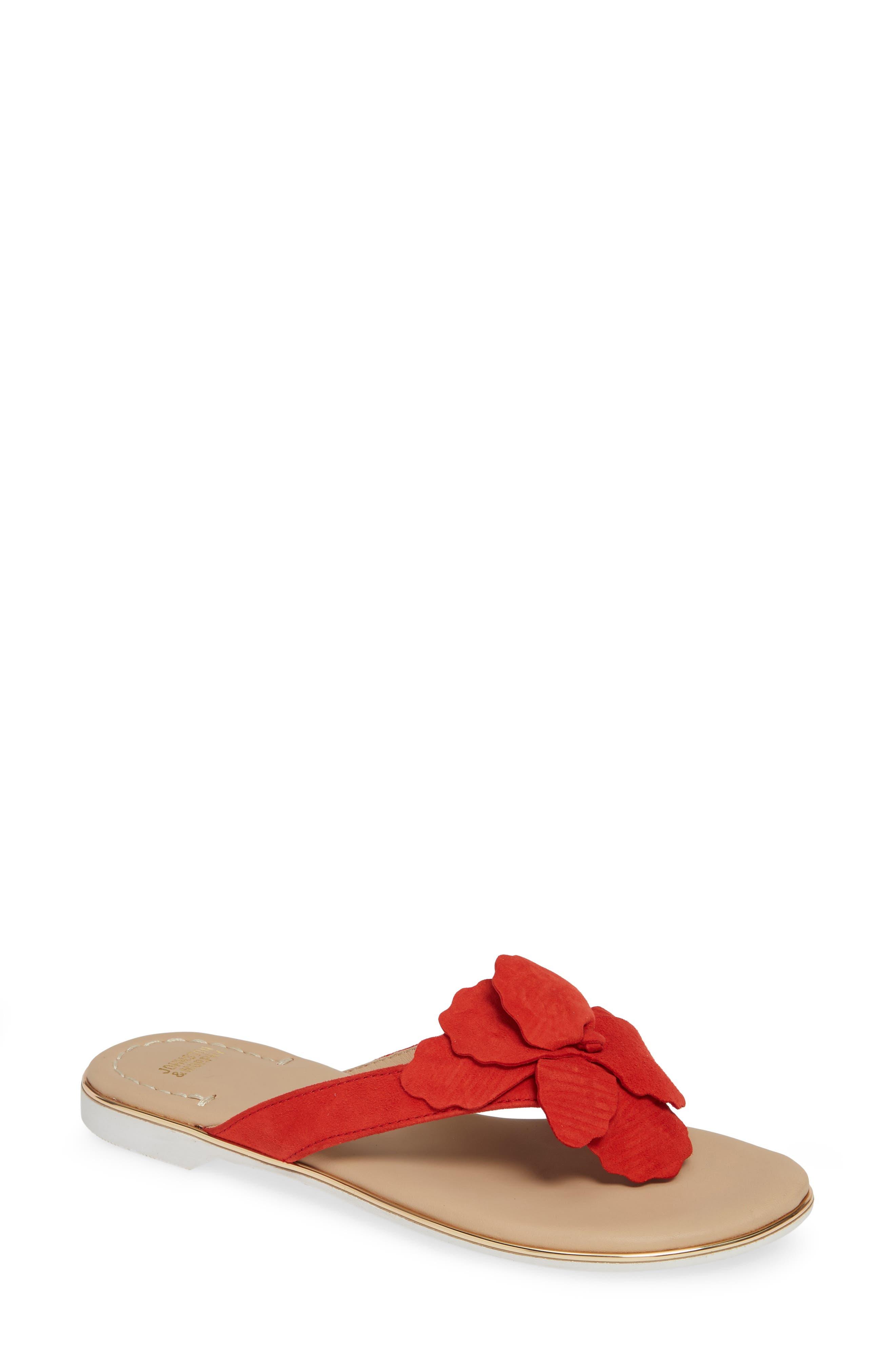 Johnston & Murphy Reanne Flip Flop, Red
