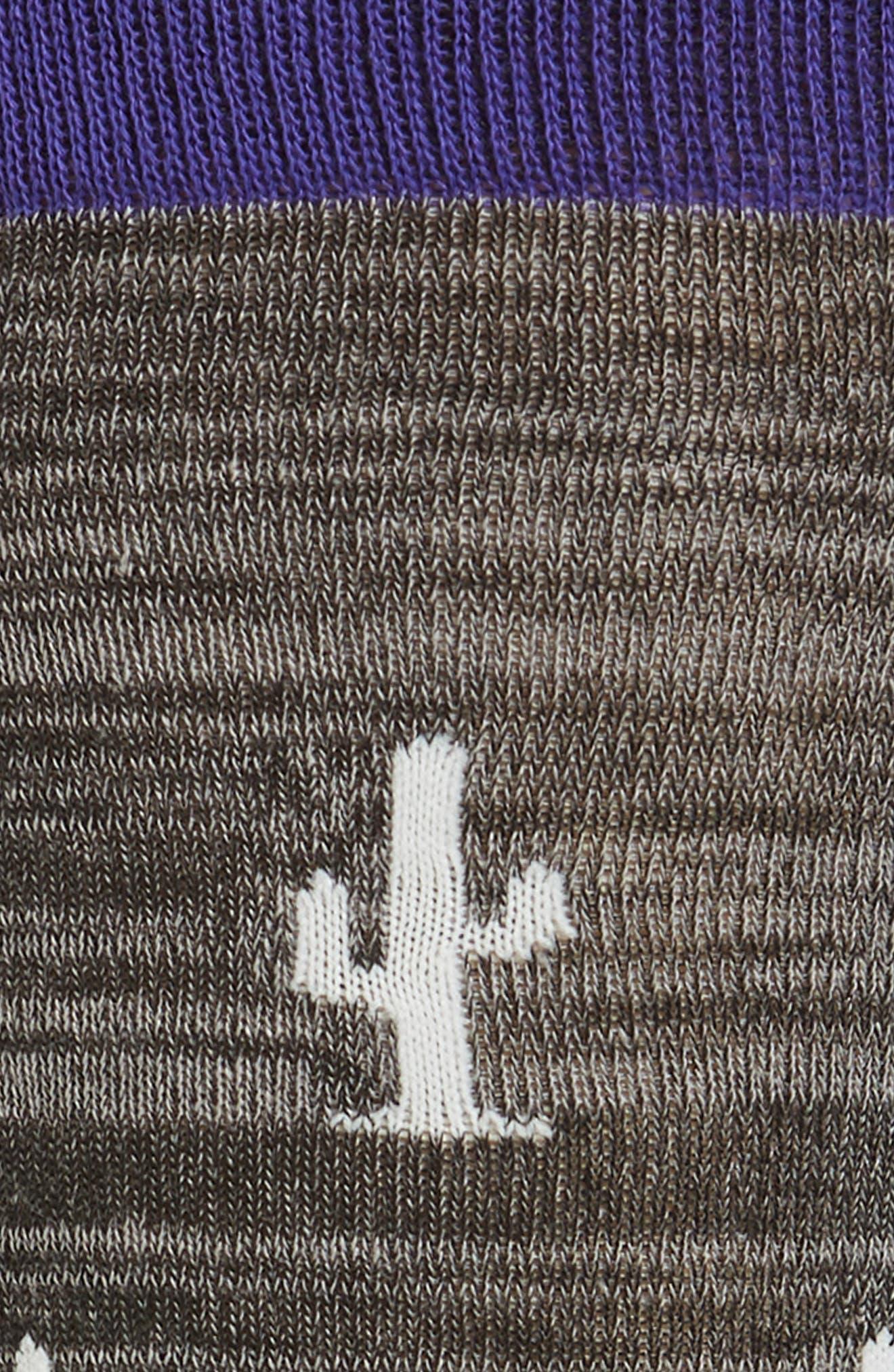 ,                             Cactus Crew Socks,                             Alternate thumbnail 2, color,                             BLACK