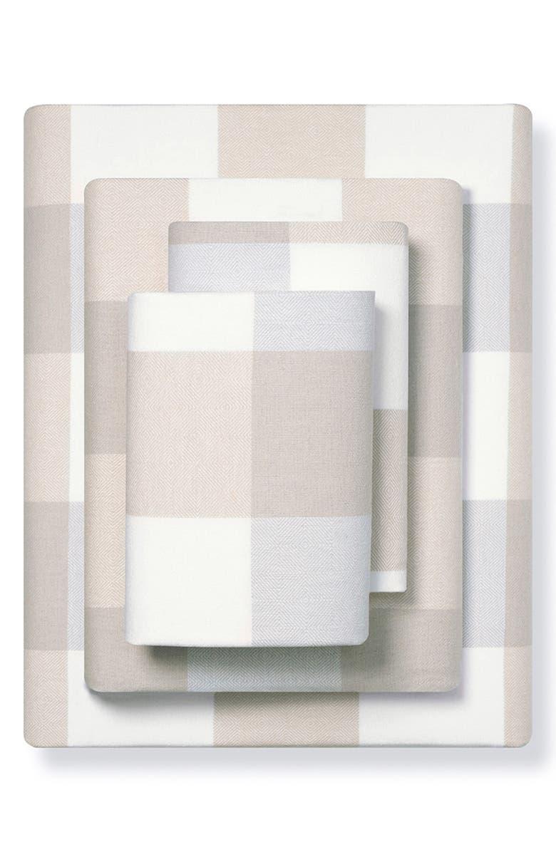 BOLL & BRANCH Organic Cotton Flannel Sheet Set, Main, color, BUFFALO CHECK