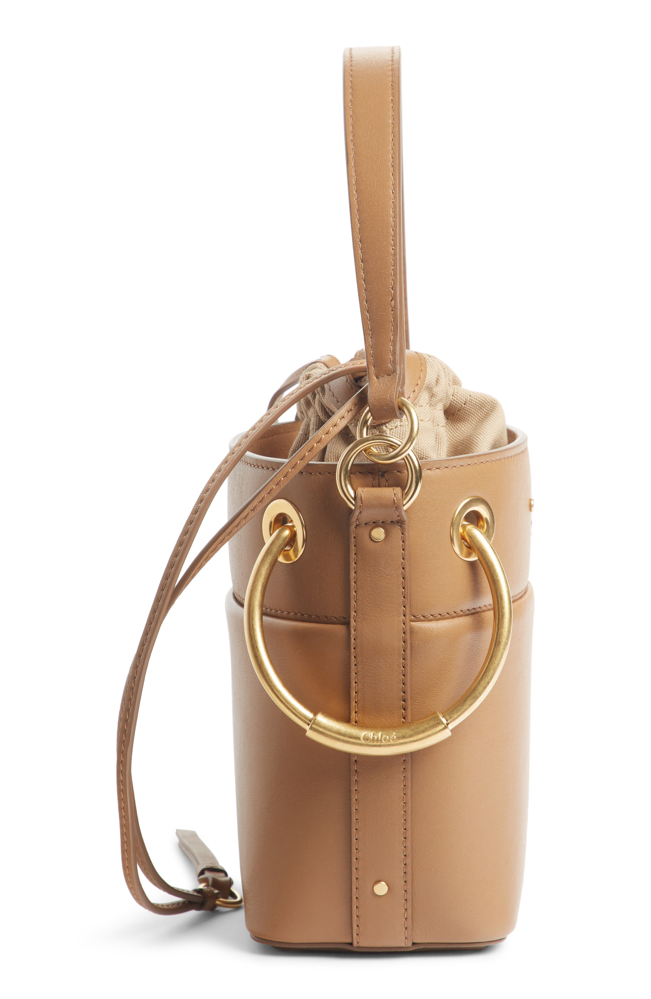 ,                             Roy Small Leather Bucket Bag,                             Alternate thumbnail 19, color,                             201