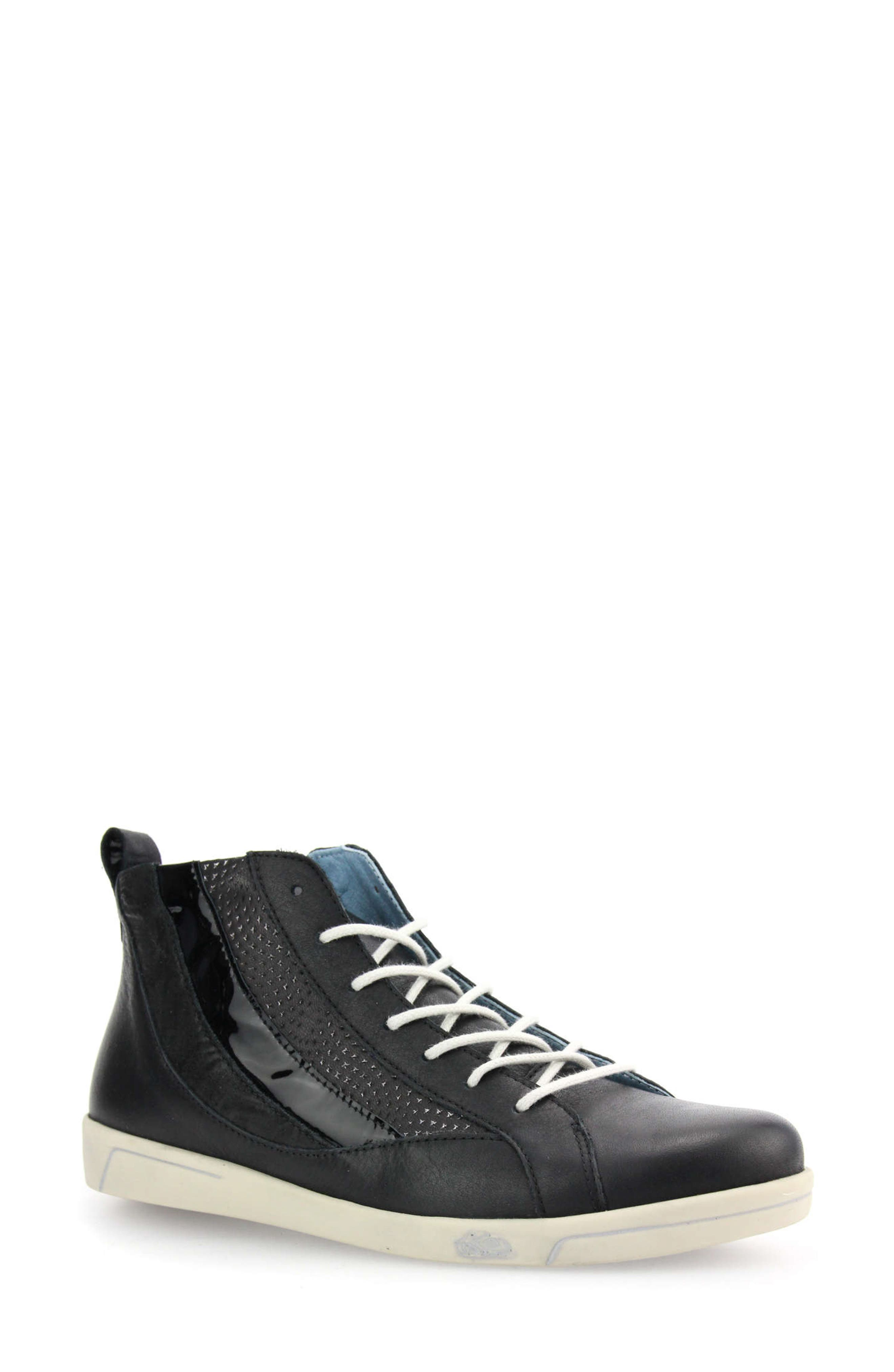Amelia Leather High Top Sneaker