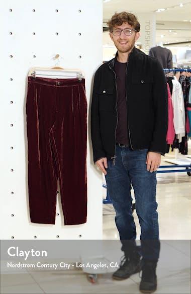 Velvet Tapered Pleat Pull-On Pants, sales video thumbnail