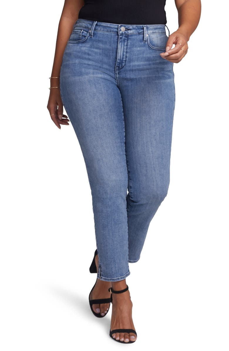 CURVES 360 BY NYDJ Slim Ankle Straight Leg Jeans, Main, color, AQUINO