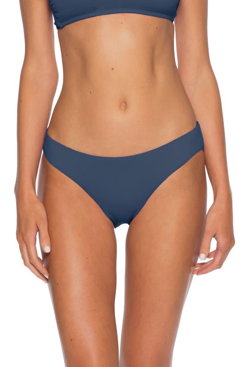 BECCA Shirred Hipster Bikini Bottoms, Main, color, SHADOW