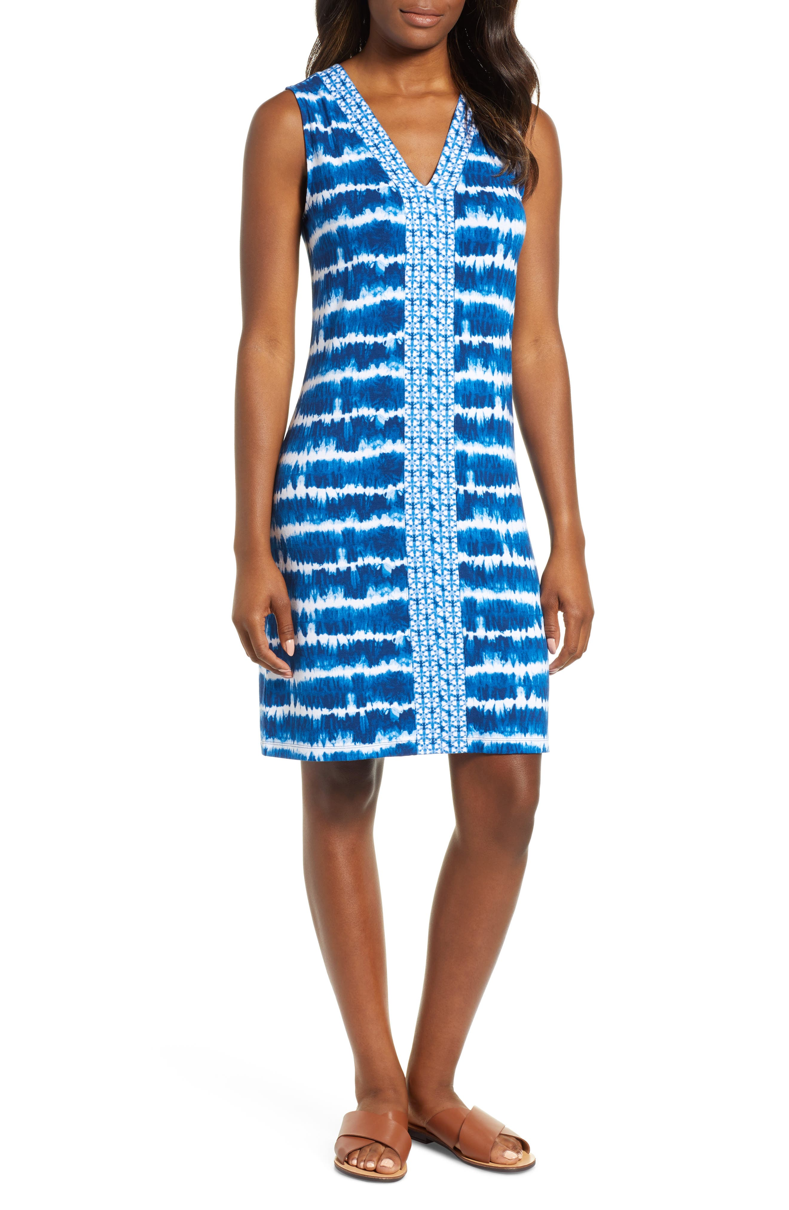 Tommy Bahama Oliana Stripe Dress, Blue