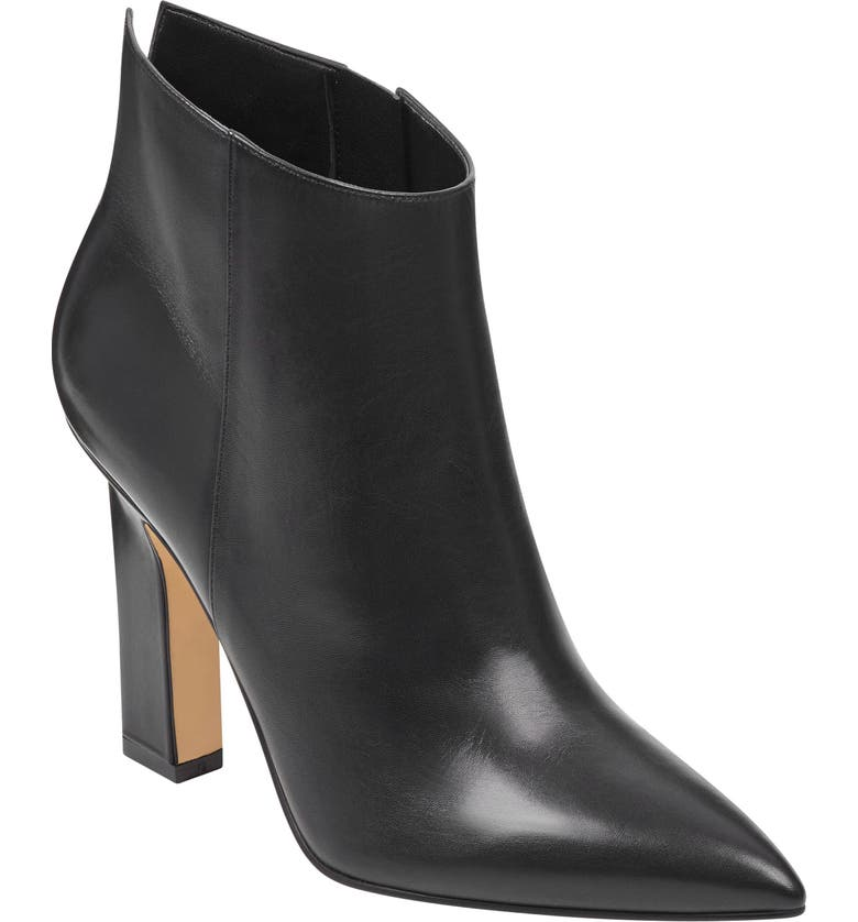 MARC FISHER LTD Mella Bootie, Main, color, BLACK LEATHER