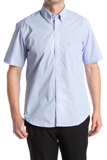 Image of TailorByrd Tonal Print Short Sleeve Shirt