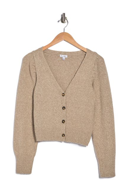 Image of Love, Fire Puff Sleeve Button Front Cardigan