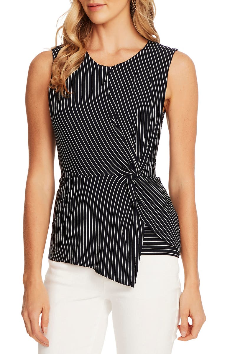 VINCE CAMUTO Linear Moments Side Twist Sleeveless Top, Main, color, 462