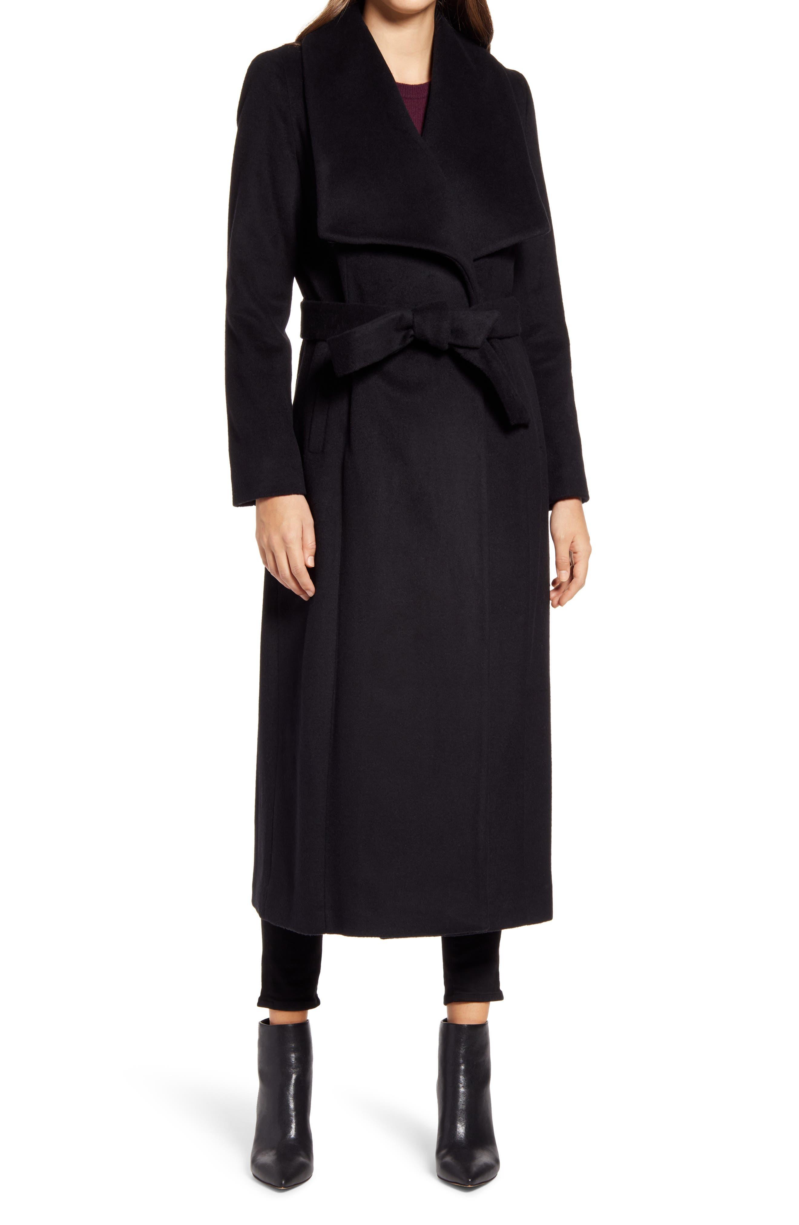 Cole Haan Signature Slick Wool Blend Wrap Coat (Women) | Nordstrom