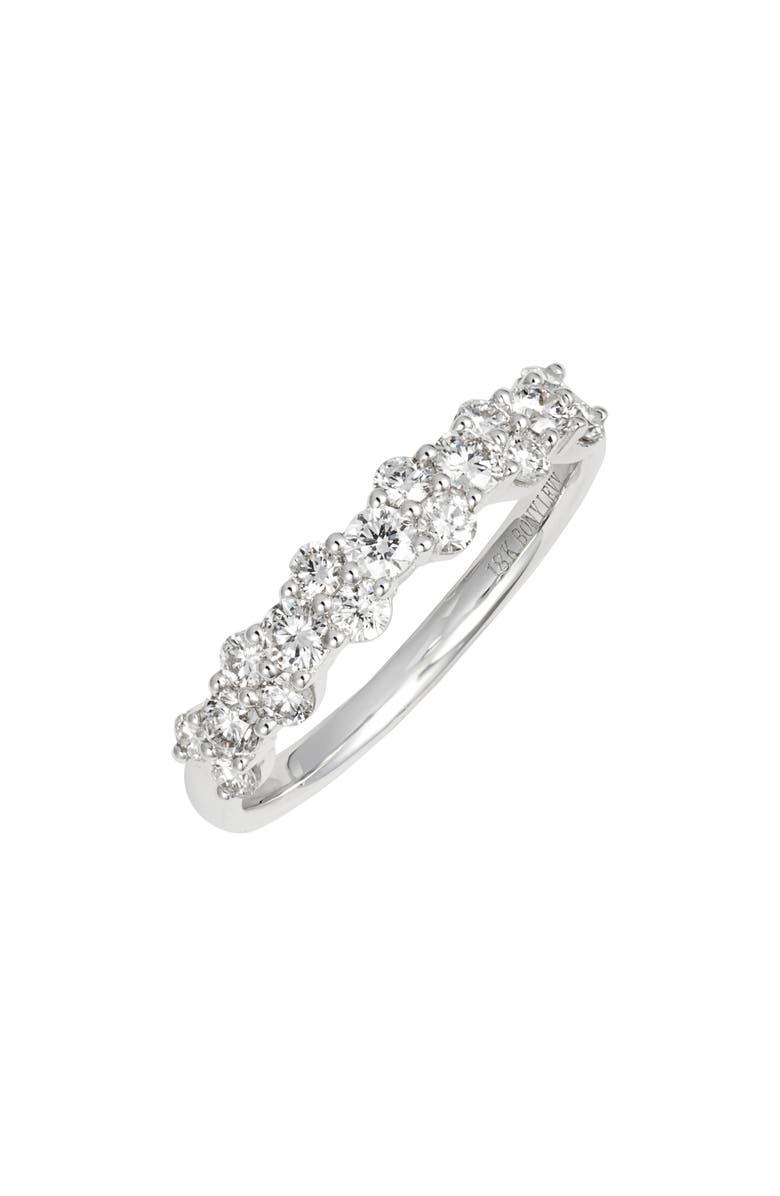 BONY LEVY Rita Two-Row Diamond Ring, Main, color, WHITE GOLD/ DIAMOND