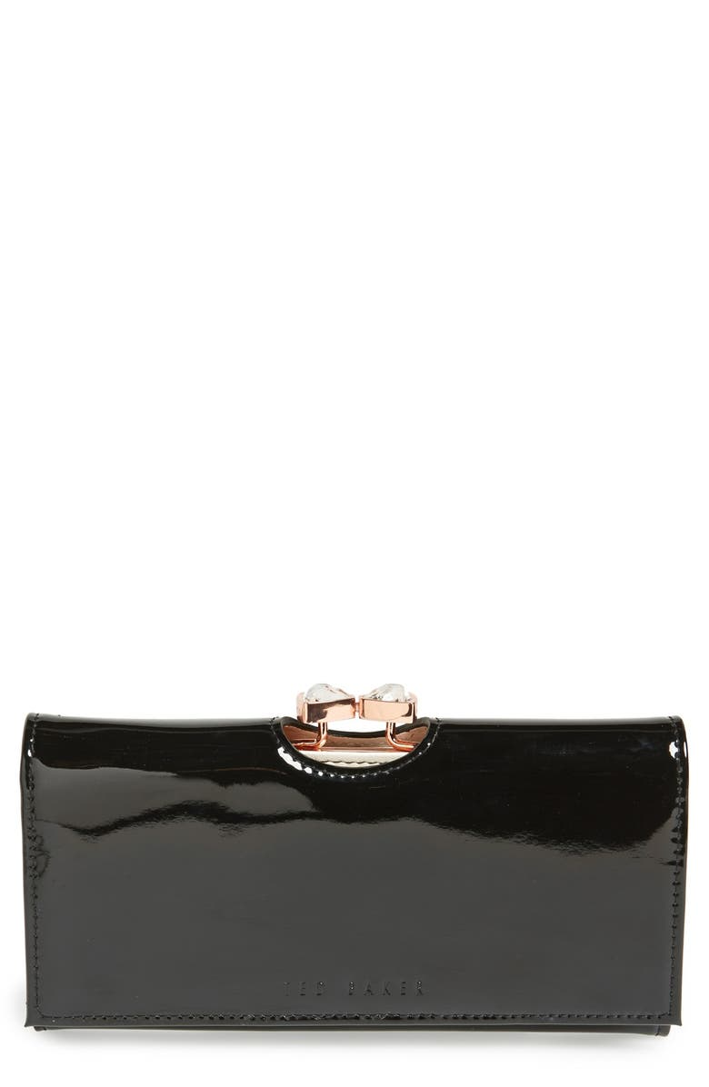 TED BAKER LONDON Leather Matinee Wallet, Main, color, 002