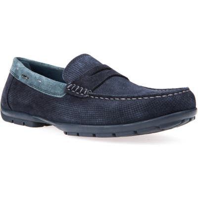 Geox Monet Regular/wide Insole Moccasin, Blue