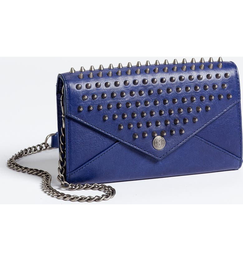 REBECCA MINKOFF Studded Wallet on a Chain, Main, color, 400