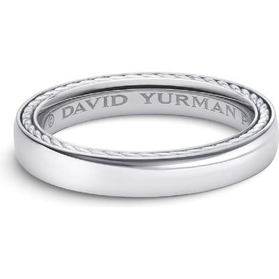 David Yurman Streamline Platinum Band Ring, m