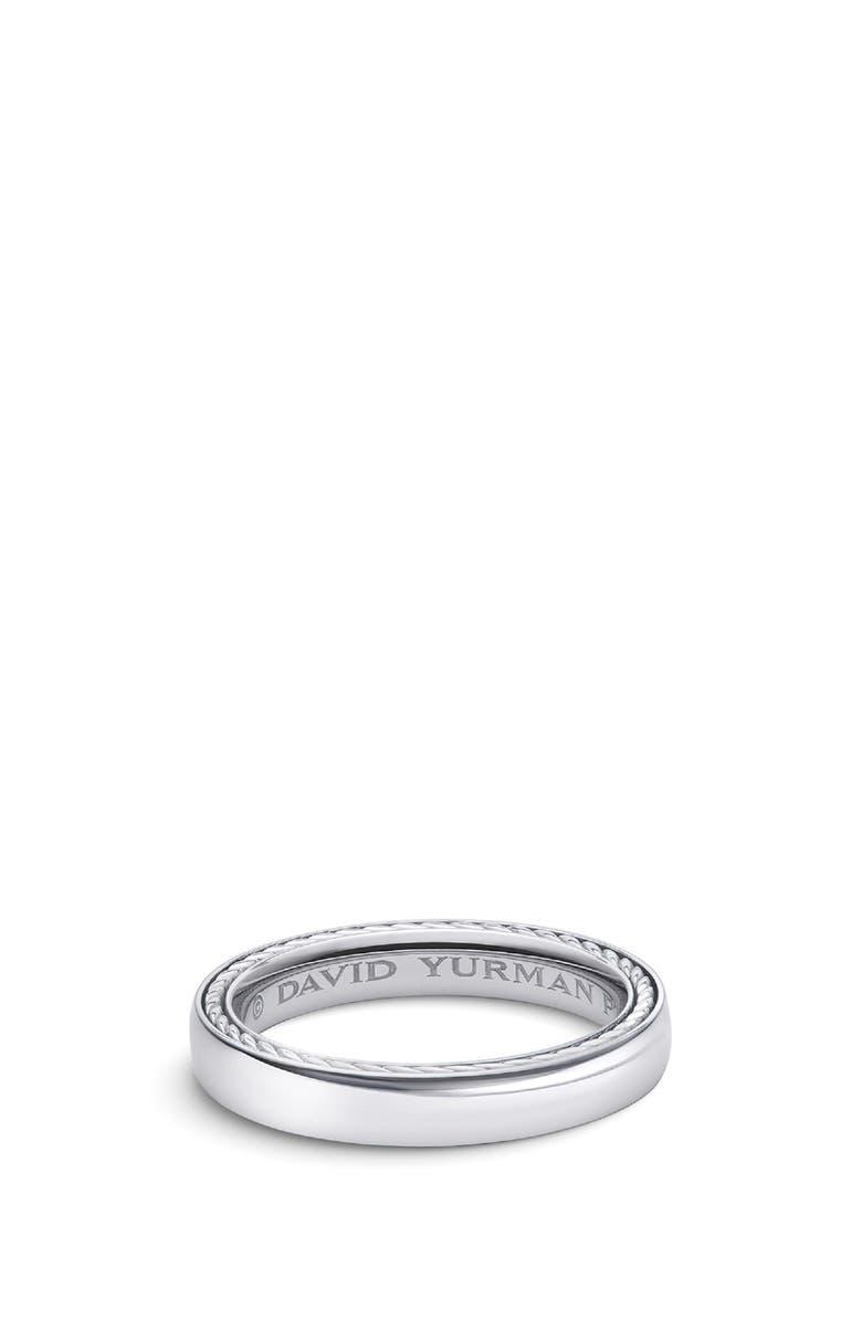 DAVID YURMAN Streamline<sup>®</sup> Platinum Band Ring, 4mm, Main, color, PLATINUM