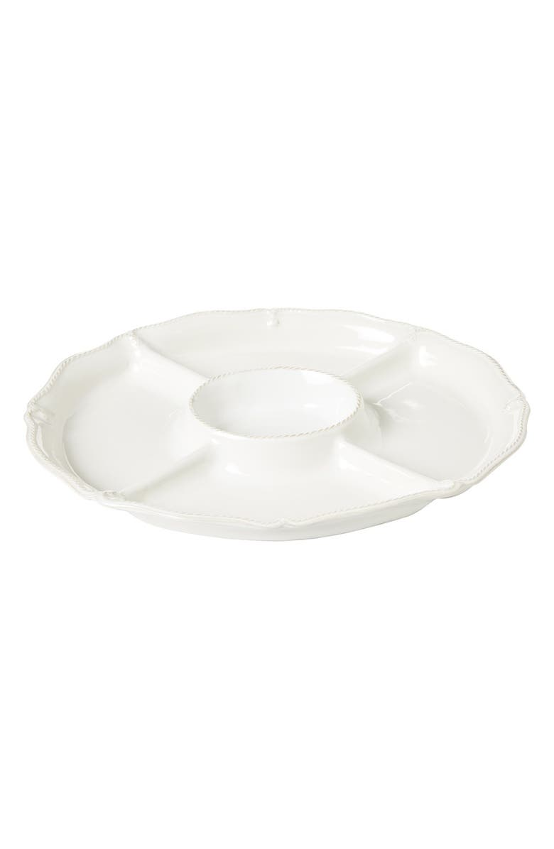 JULISKA 'Berry and Thread' Ceramic Crudité Platter, Main, color, WHITEWASH