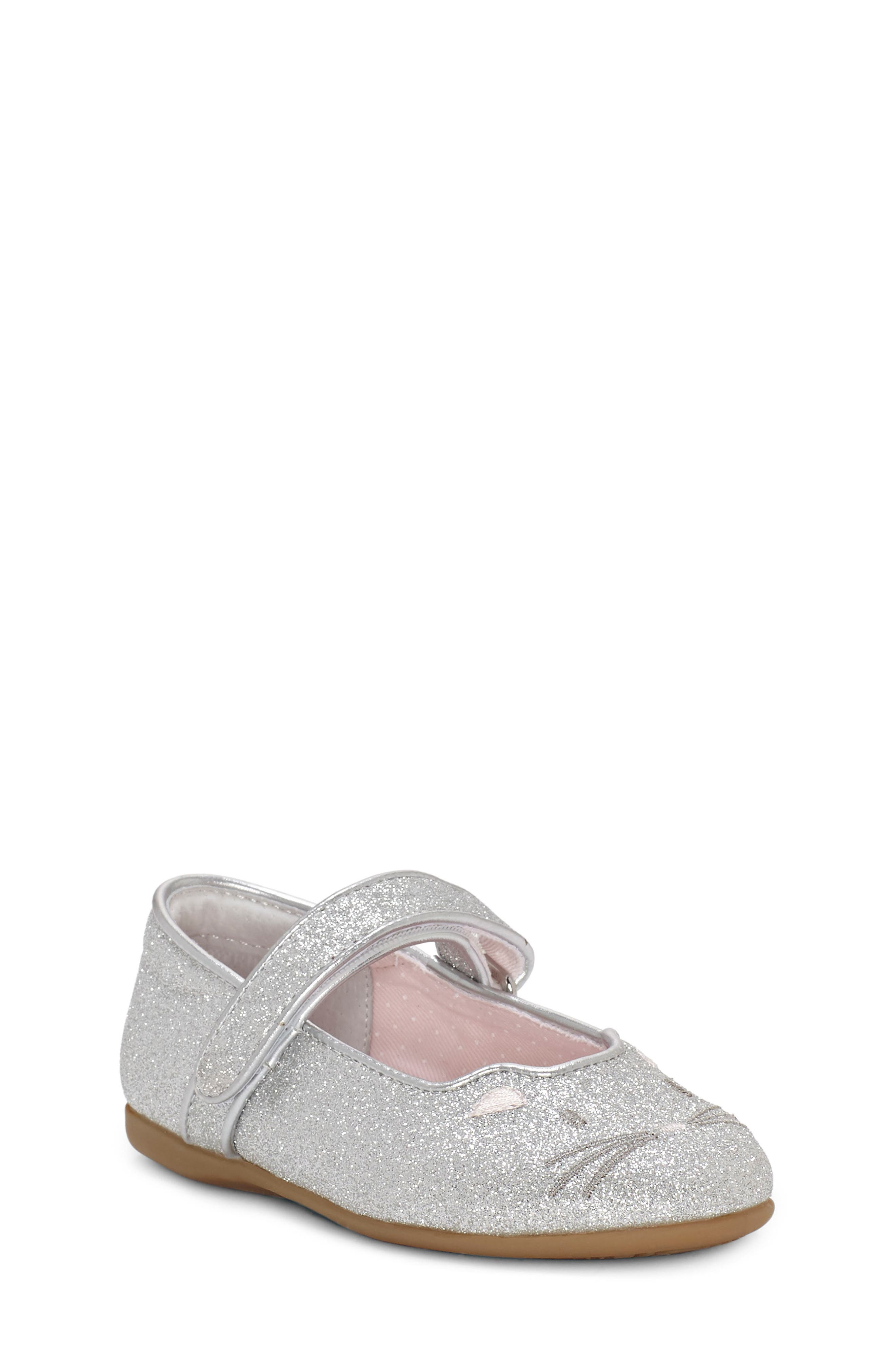 Pacho Glitter Kitty Mary Jane, Main, color, SILVER