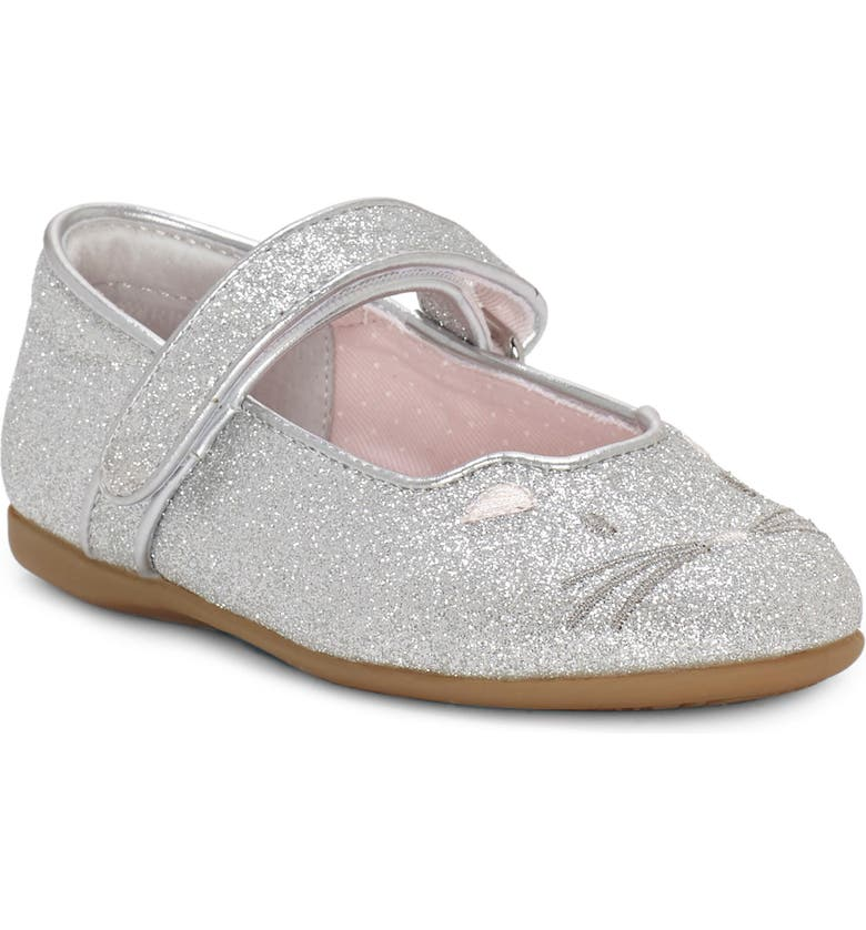 SOLE PLAY Pacho Glitter Kitty Mary Jane, Main, color, SILVER