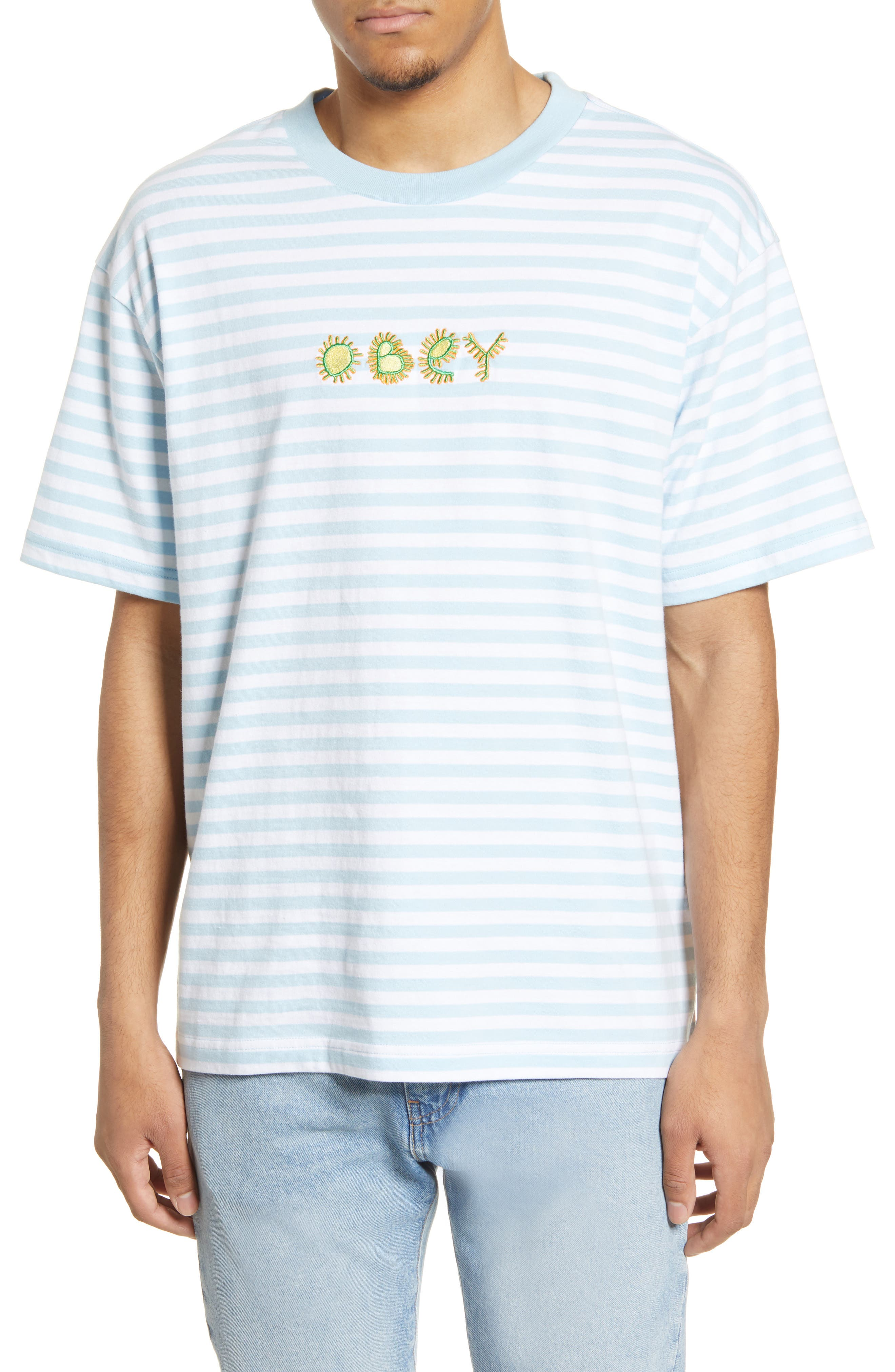 SMALL Obey Cropped Graphic Tee
