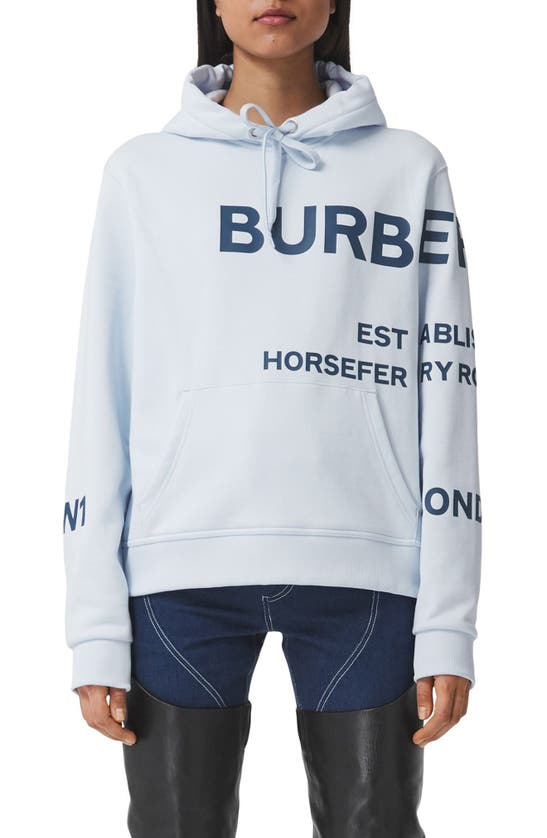Burberry Cottons POULTER HORSEFERRY PRINT COTTON HOODIE
