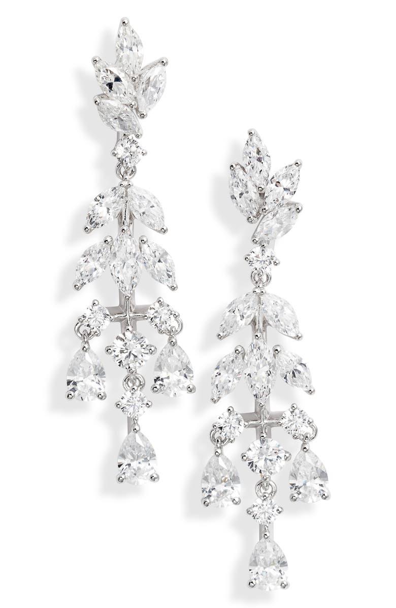 NADRI Bouquet Small Chandelier Earrings, Main, color, 040