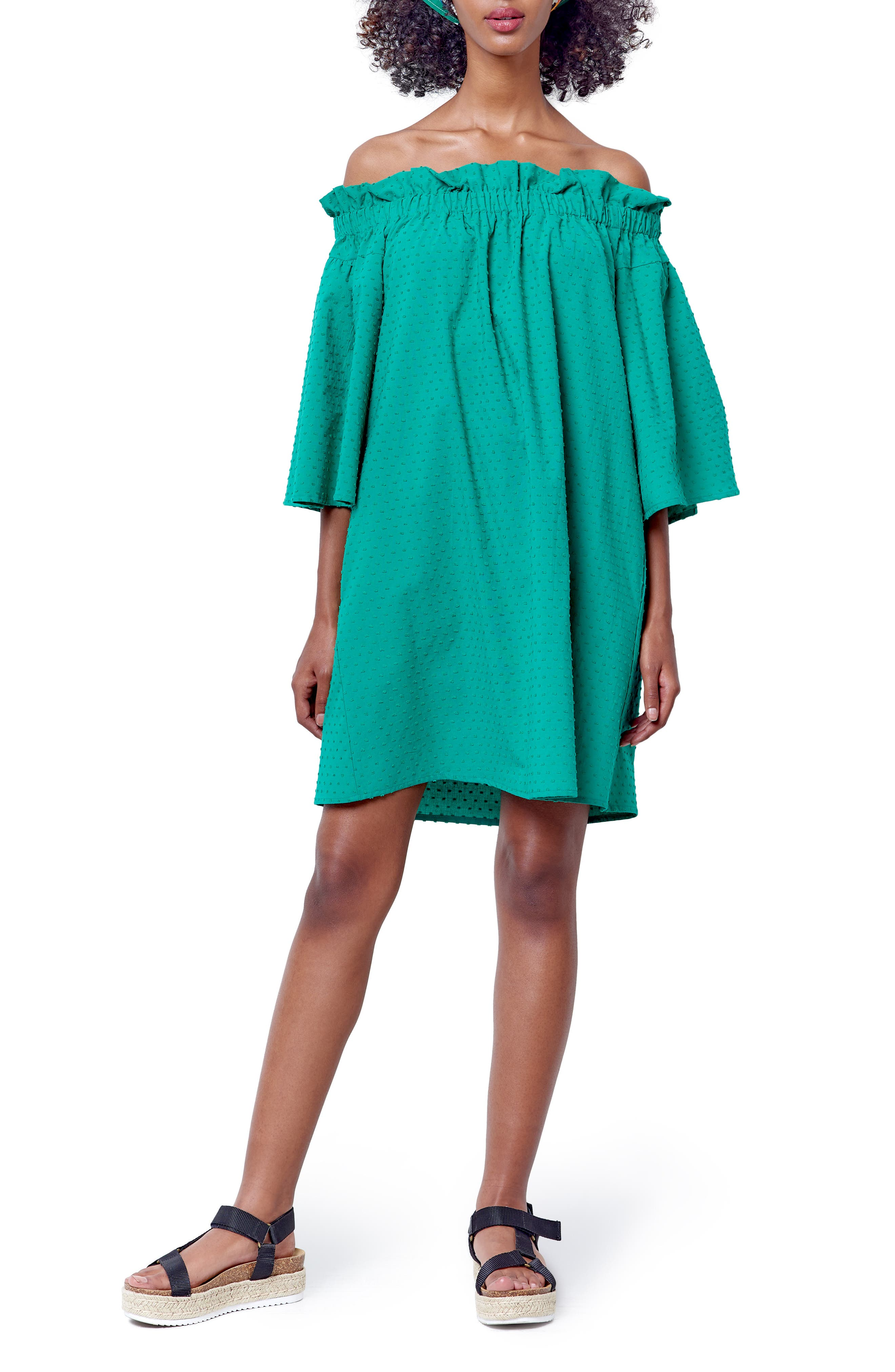 Mary Off The Shoulder Shift Dress