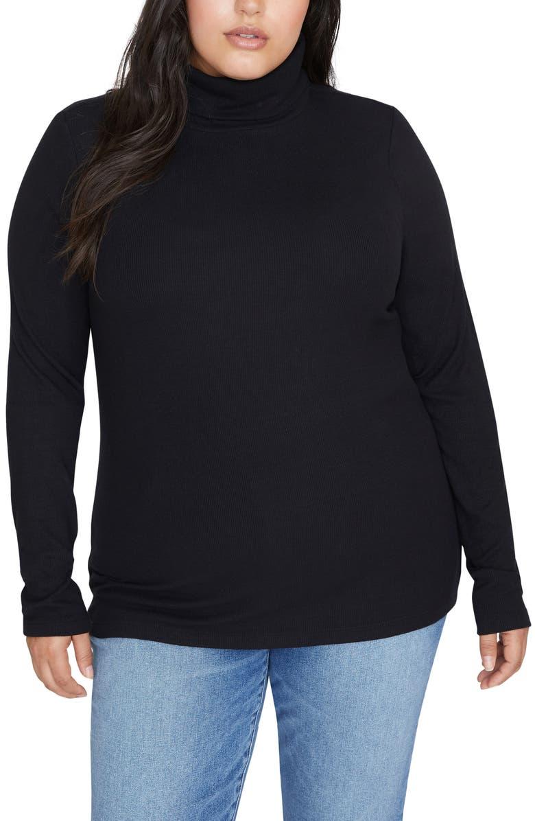 SANCTUARY Essential Turtleneck Sweater, Main, color, 001