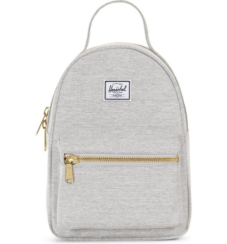 HERSCHEL SUPPLY CO. Mini Nova Backpack, Main, color, LIGHT GREY CROSSHATCH