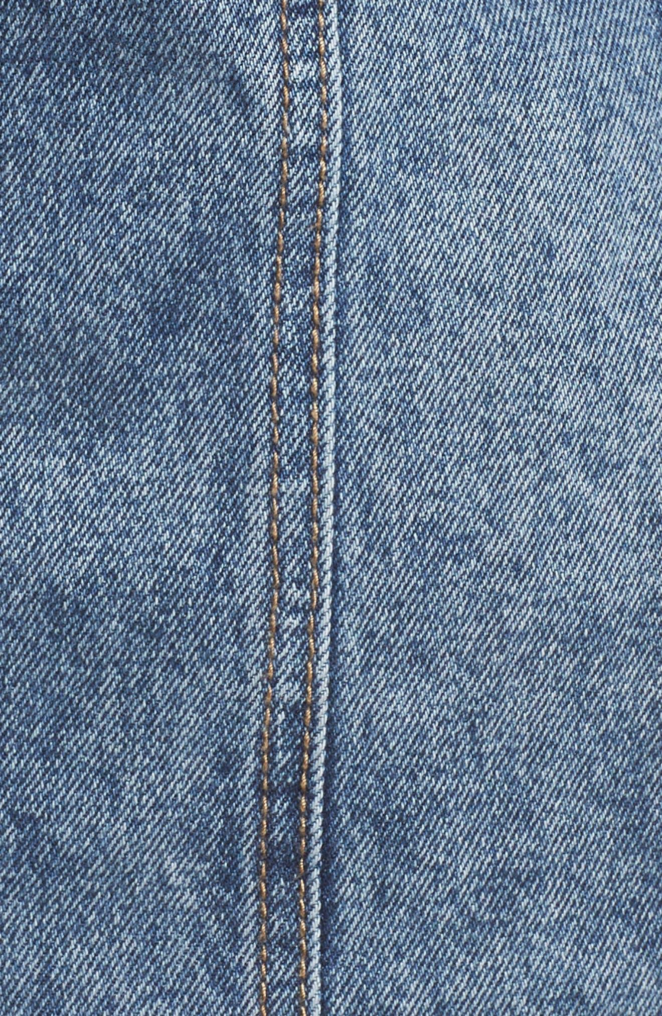 ,                             Faux Leather & Denim Jacket,                             Alternate thumbnail 13, color,                             001