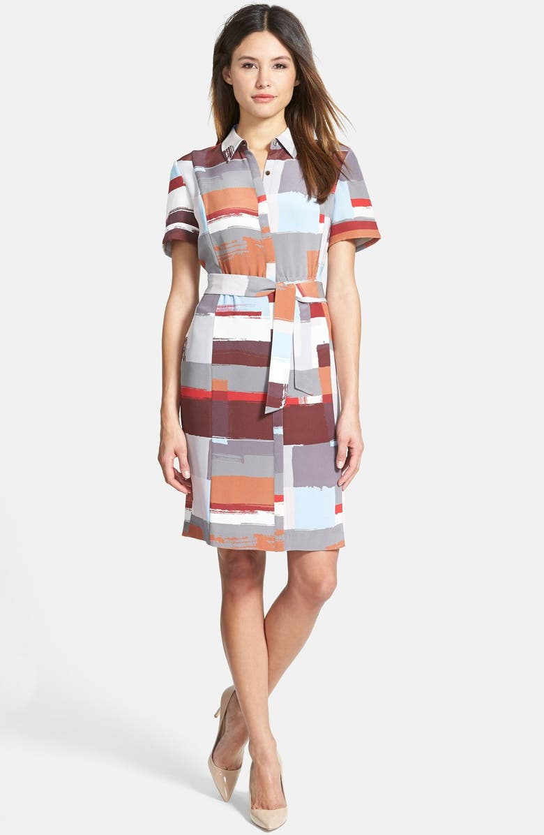 CLASSIQUES ENTIER<SUP>®</SUP> Print Silk Shirtdress, Main, color, 460
