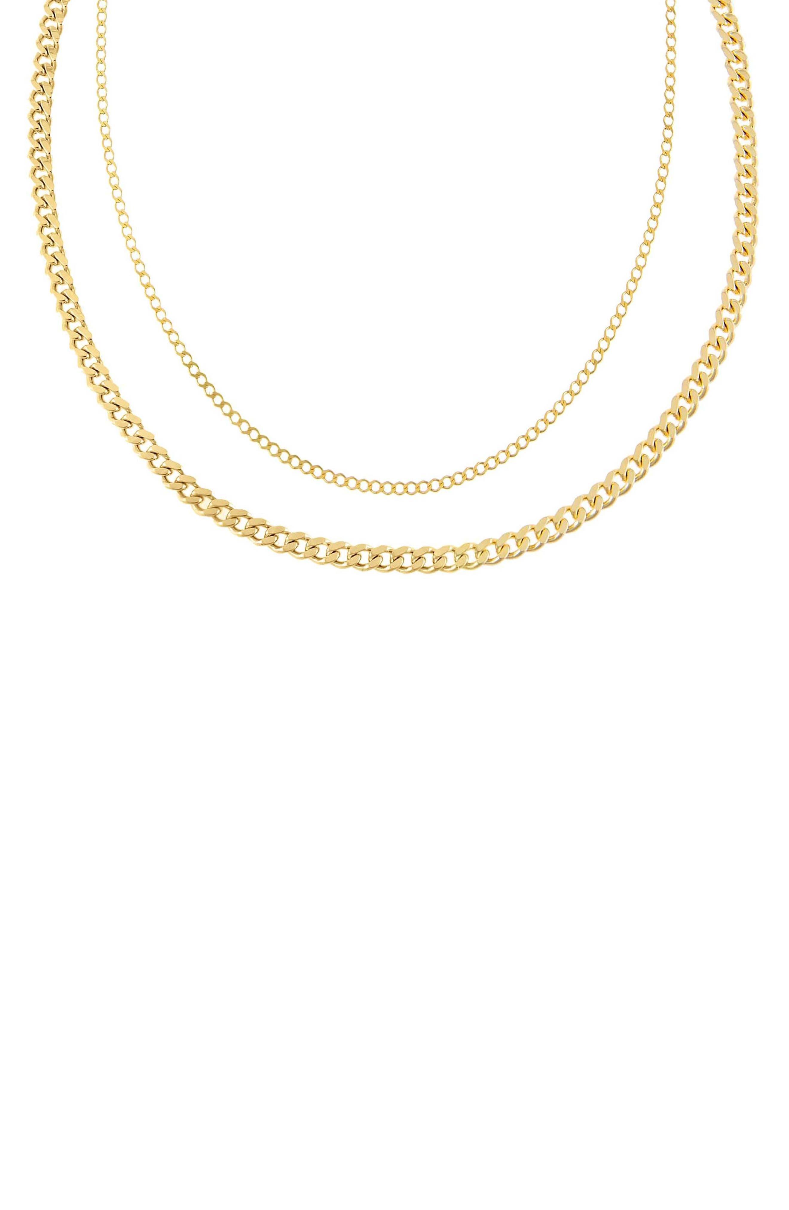 Women's Adina's Jewels Layered Cuban Chain Necklace