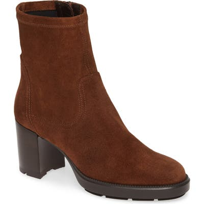 Aquatalia Idalia Weatherproof Block Heel Bootie, Brown