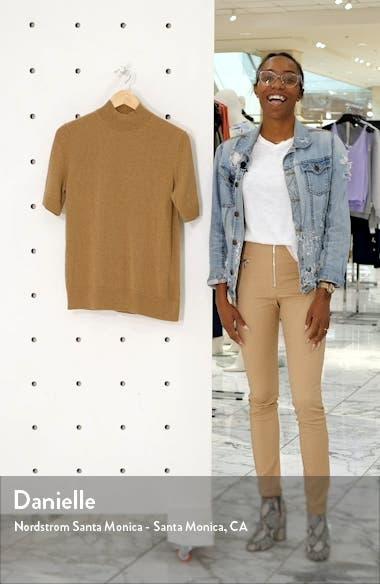 Mock Neck Metallic Cashmere Sweater, sales video thumbnail
