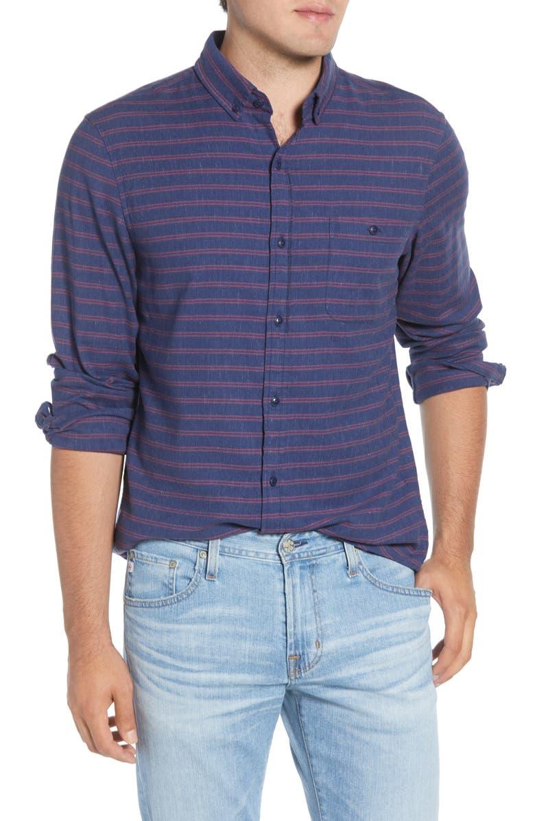 VINEYARD VINES Alder Longshore Slim Fit Stripe Button-Down Shirt, Main, color, 400