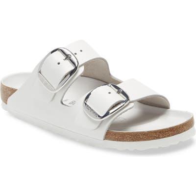Birkenstock Arizona Big Buckle Slide Sandal, White